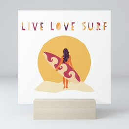 Live Love Surf Mini Art Print