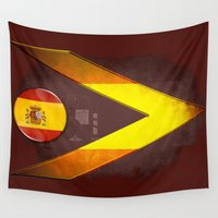 spain Wall Tapestries featuring Spain by ilustrarte