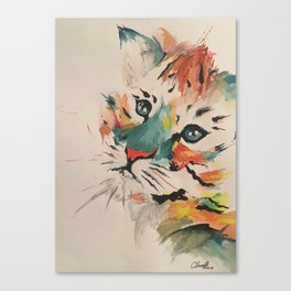 Water color baby tiger Canvas Print