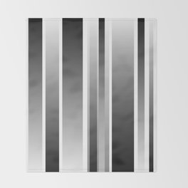 Color Black gray Throw Blanket