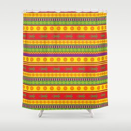 gecko mexican pattern Shower Curtain