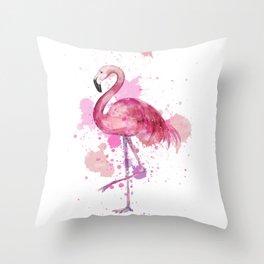 Pretty Flamingo Throw Pillow