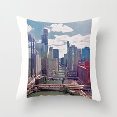 Chicago River View III Throw Pillow