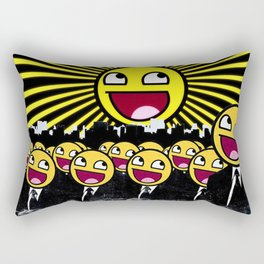 Awesome Smiley Faces Yellow Emoticon                                      Rectangular Pillow