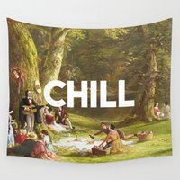 netflix Wall Tapestries featuring Chill by eARTh