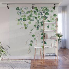 Eucalyptus Watercolor Wall Mural