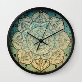 Faded Bohemian Mandala Wall Clock