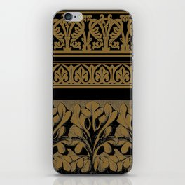 Black Brown Frett Work iPhone Skin