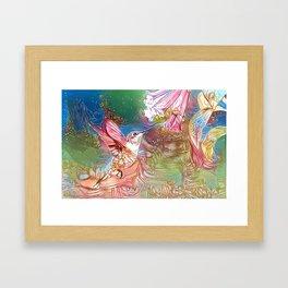 Fairy Hummingbird Framed Art Print