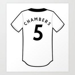 Calum Chambers Jersey Art Print