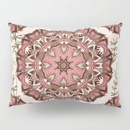 Boho Floral Mandela Pattern Pillow Sham