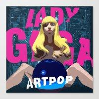 artpop Canvas Prints featuring ARTPOP by Marcelo BM