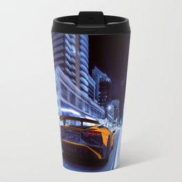 Supercar City night speed Travel Mug