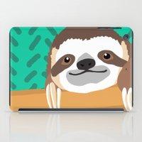 brad pitt iPad Cases featuring Brad Sloth by AEle