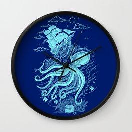 Giant Octopus and Sailing Ship Wall Clock
