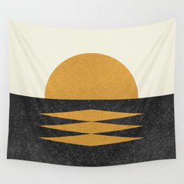 Sunset Geometric Midcentury style Wall Tapestry