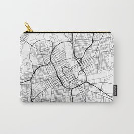 Nashville Map, USA - Black and White Carry-All Pouch