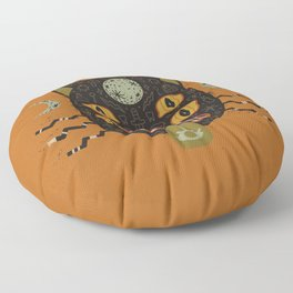 Spooky Cat Floor Pillow