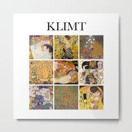 Klimt - Collage Metal Print