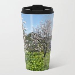 Almond trees in Portugal Travel Mug