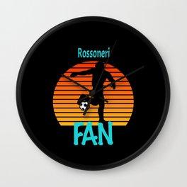 Rossoneri Soccer Futbol Fan Wall Clock