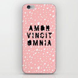 Amor Vincit Omnia • Love Conquers All iPhone Skin