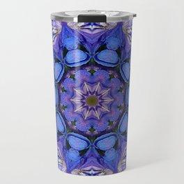 Summer sky Delphinium mandala Travel Mug