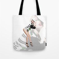 miley Tote Bags featuring Miley by eriicms