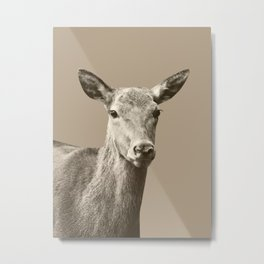 Deer on Sepia #1 #decor #art #society6 Metal Print