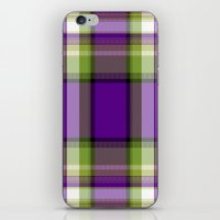 plaid iPhone & iPod Skins featuring Plaid by Kevin Rogerson