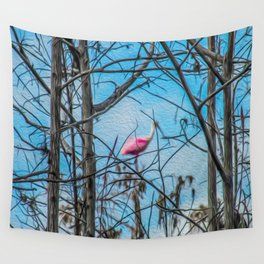 The Rose in the Tree Wall Tapestry