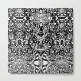 Drawing Floral Zentangle G6B Metal Print