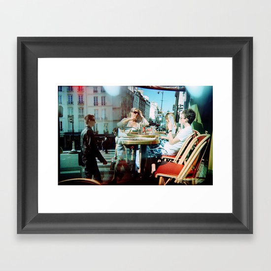 Cafe Arsenal, Paris (Double Exposure) Framed Art Print