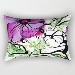 Pink peony flower Rectangular Pillow