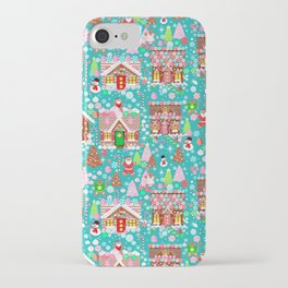 Christmas Gingerbread House Candy Village iPhone Case