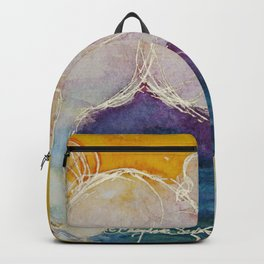pink golden heart horse pony watercolor by CheyAnne Sexton Backpack