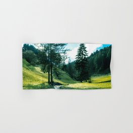 Green fields, trees and a magical brook Hand & Bath Towel