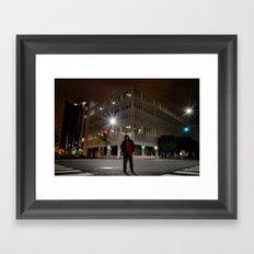 right around the corner Framed Art Print