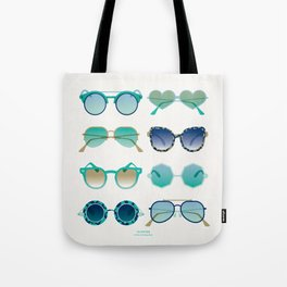 Sunglasses Collection – Turquoise & Navy Palette Tote Bag
