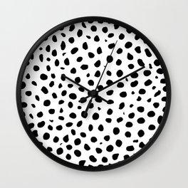 Black And White Cheetah Print Wall Clock