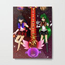 Fusion Sailor Moon Guitar #30 - Sailor Mars & Sailor Pluto Metal Print