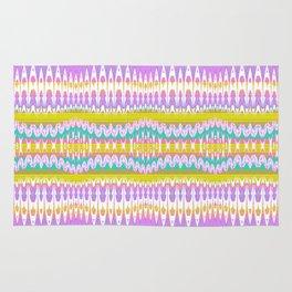 High Definition Digital Thread Weaving Loom Lines Rug
