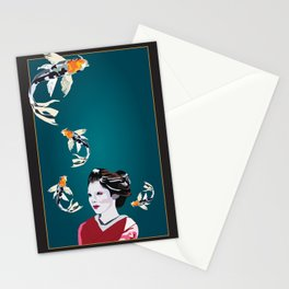 Koi's in and out of my Mind Stationery Cards