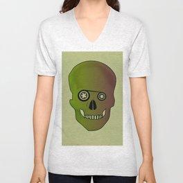 skull casette print Unisex V-Neck