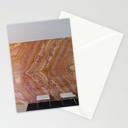 Barcelona's German Pavilion Onyx Marble Wall by Mies van der Rohe Stationery Cards