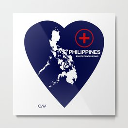 Philippine Support Metal Print