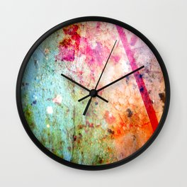 Turquoise, Thursday, Red, Lime, Green, Chipped Paint Wall Clock