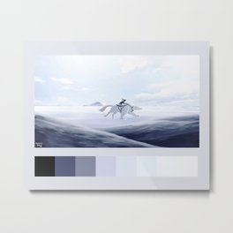 korra and naga palette Metal Print