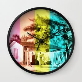 Sarasota Series Wash Day Wall Clock