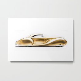 Vintage 1934 gold Packard Eight 2/4-Passenger Coupe Metal Print